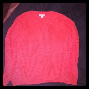 Forever 21 neon pink sweater